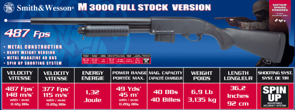 Smith and Wesson M300 full stock version-0