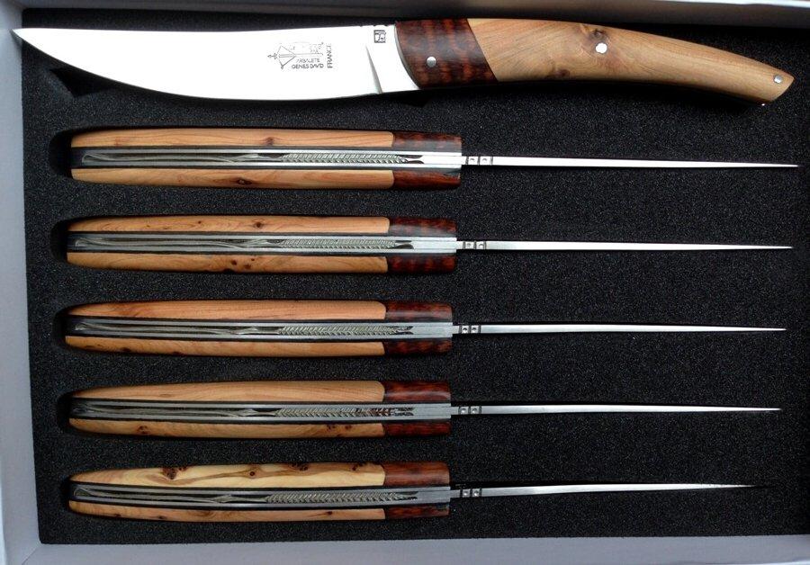 Thiers set de 6 couteaux de table amourette et cade-0