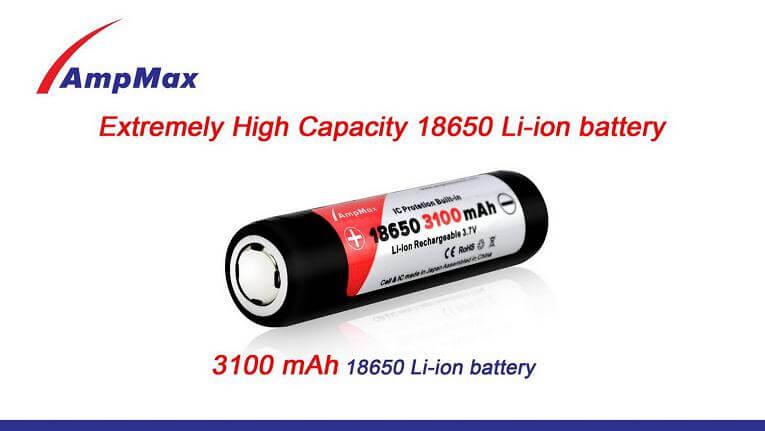 Pile accu AMPMAX 18650a pour PD32 ou TK35-0