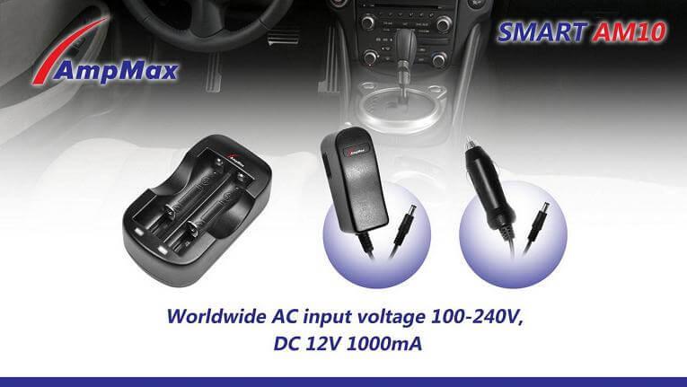 Chargeur AMPMAX pour piles 12V longues-0