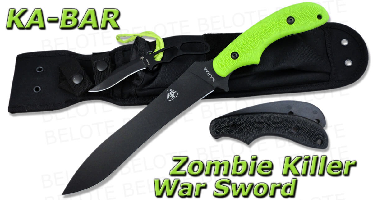 Ka-Bar Zombie Killer War Sword-0