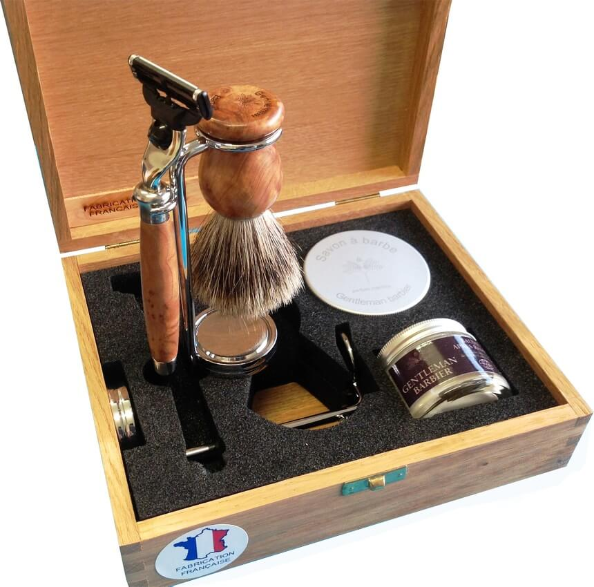 Coffret de rasage Gentleman Barbier 5 pièces cade-0