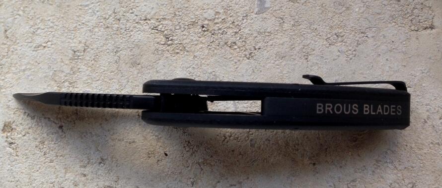 Brous blade Silent Soldier Flipper G10 Edition-5384