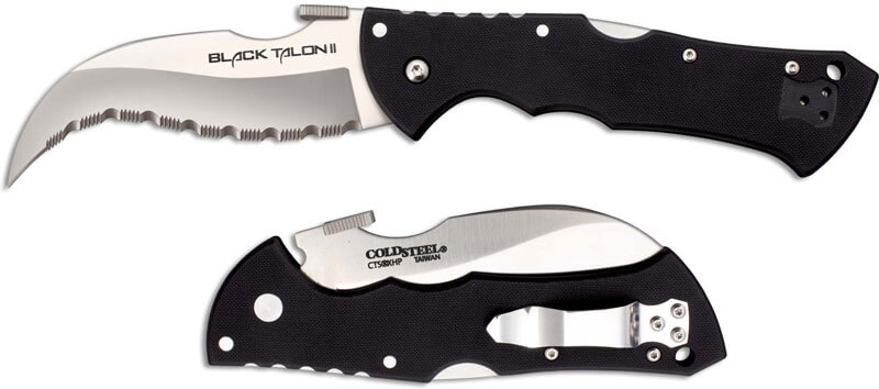 Cold Steel Black Talon II serretad edge-0