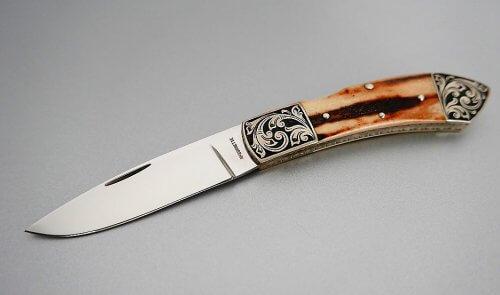 Couteau Harvey McBurnette stag - Couteaux Fontaine