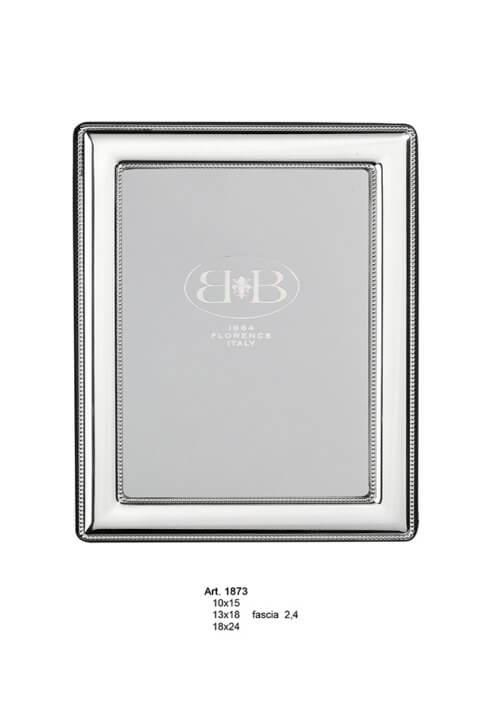 Cadre photo argent massif Perles 10x15cm